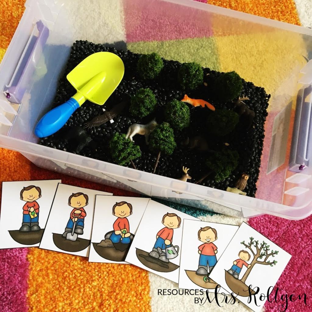Earth Day sensory bin