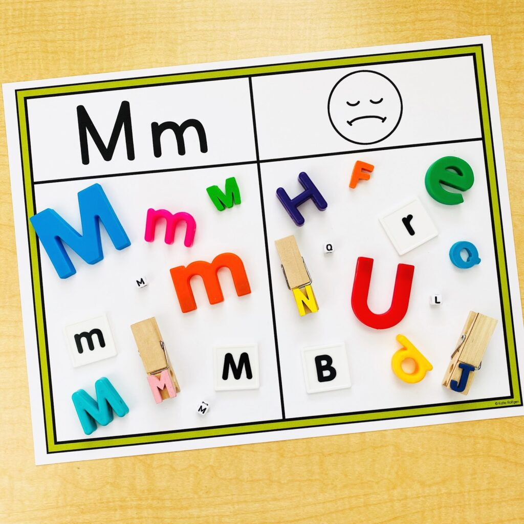 alphabet activities for preschool and kindergarten for sensory bins