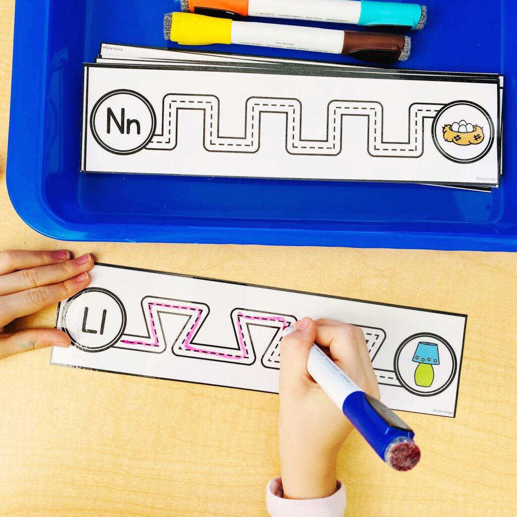 alphabet fine motor activities for preschool and kindergarten