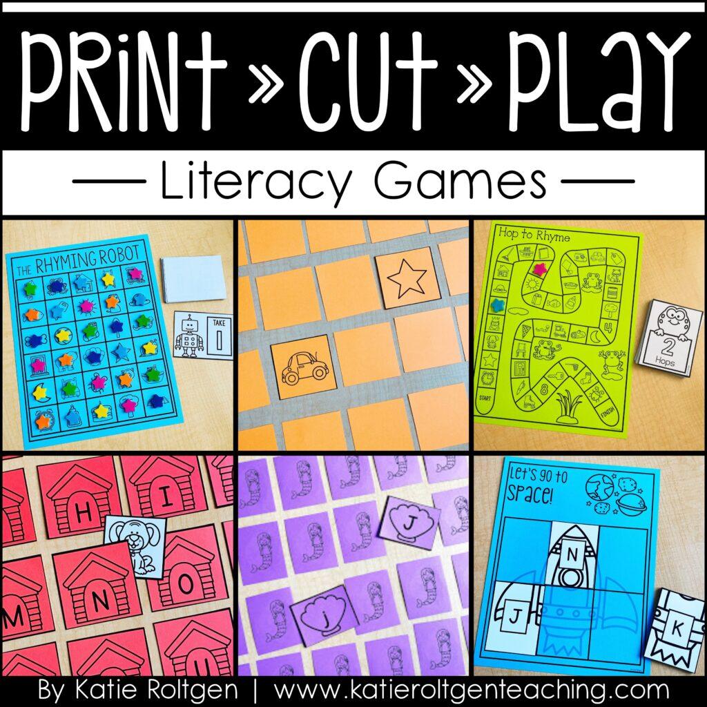 Print cut play games