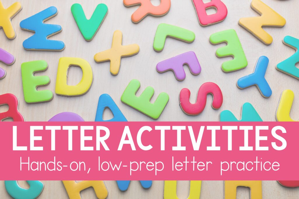 alphabet activities for preschool and kindergarten