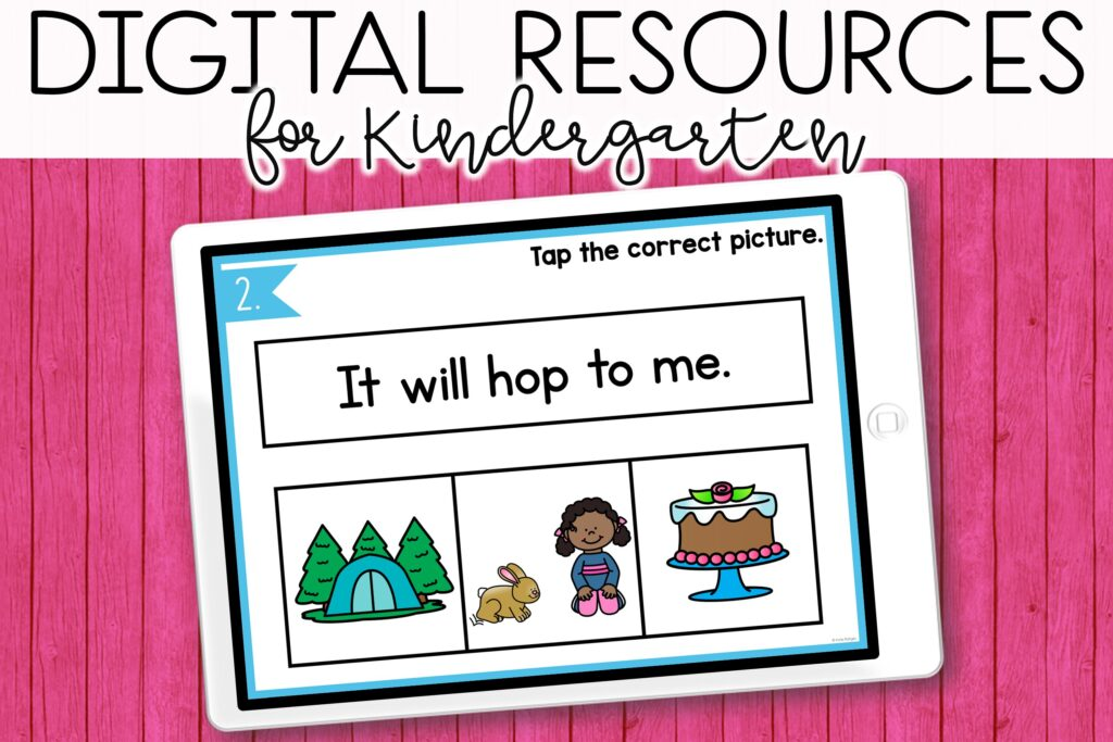 digital learning and remote learning for kindergarten