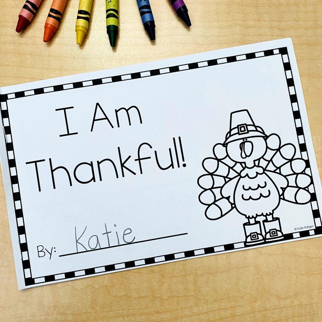 kindergarten thanksgiving activities