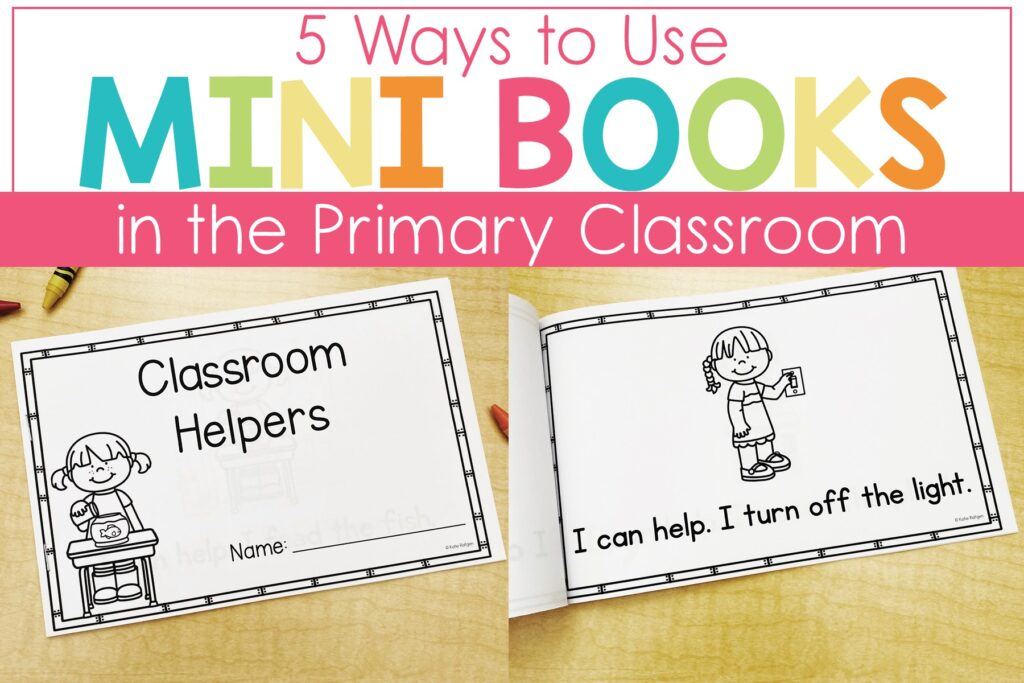 kindergarten mini books for literacy and math skills