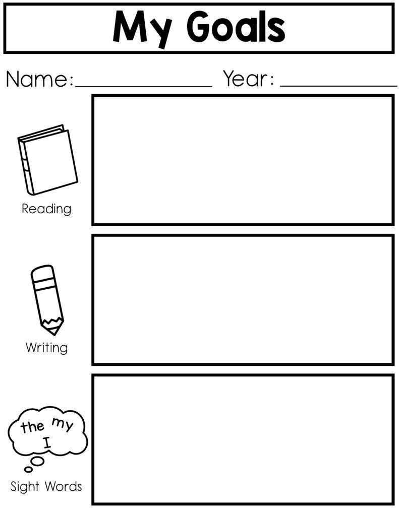 kindergarten goal-setting for ELA