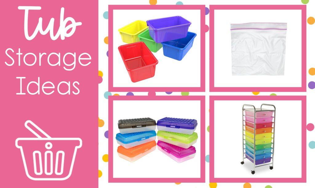 morning tubs for kindergarten