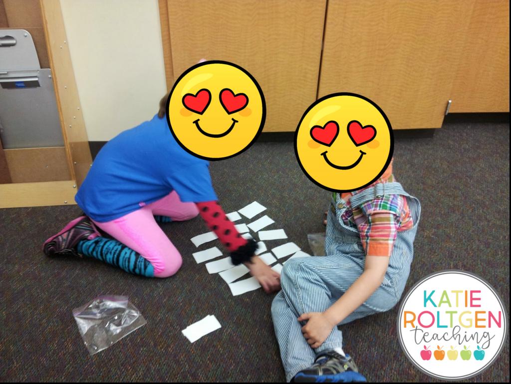 classroom supplies kindergarten partner activity