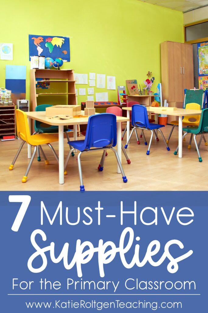 classroom supplies kindergarten teaching back to school